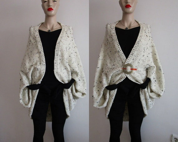 Knitting Cardigan Oversized Cream Sweater Cream Cardigan  cd4be4df2