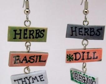 Polymer Clay Herb Earrings