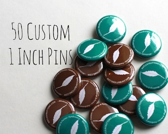 50 Personalized 1 Inch Pins - Custom promotional buttons - Etsy shop Birthdays Weddings and Family Reunions