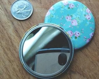Personalized Pocket Mirros - FIVE Custom Mirrors - Wedding - Bridesmaid Gifts