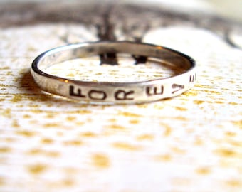 Design Your Own:  Personalized Sterling Silver Ring