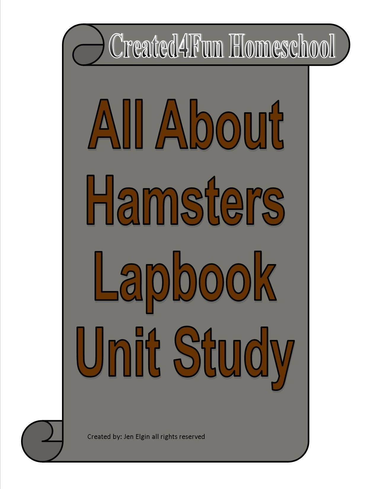 Hamster Lapbook Unit Study for learning all about hamster care | Etsy