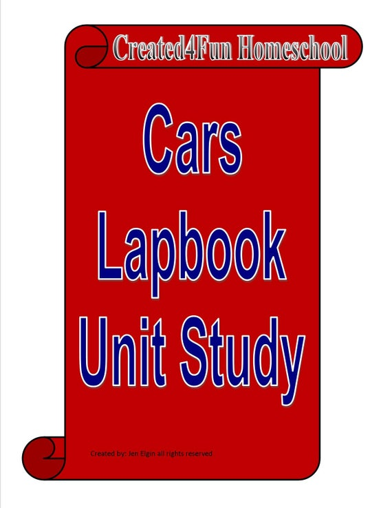 Car Lapbook Unit Study For Learning About Cars Etsy