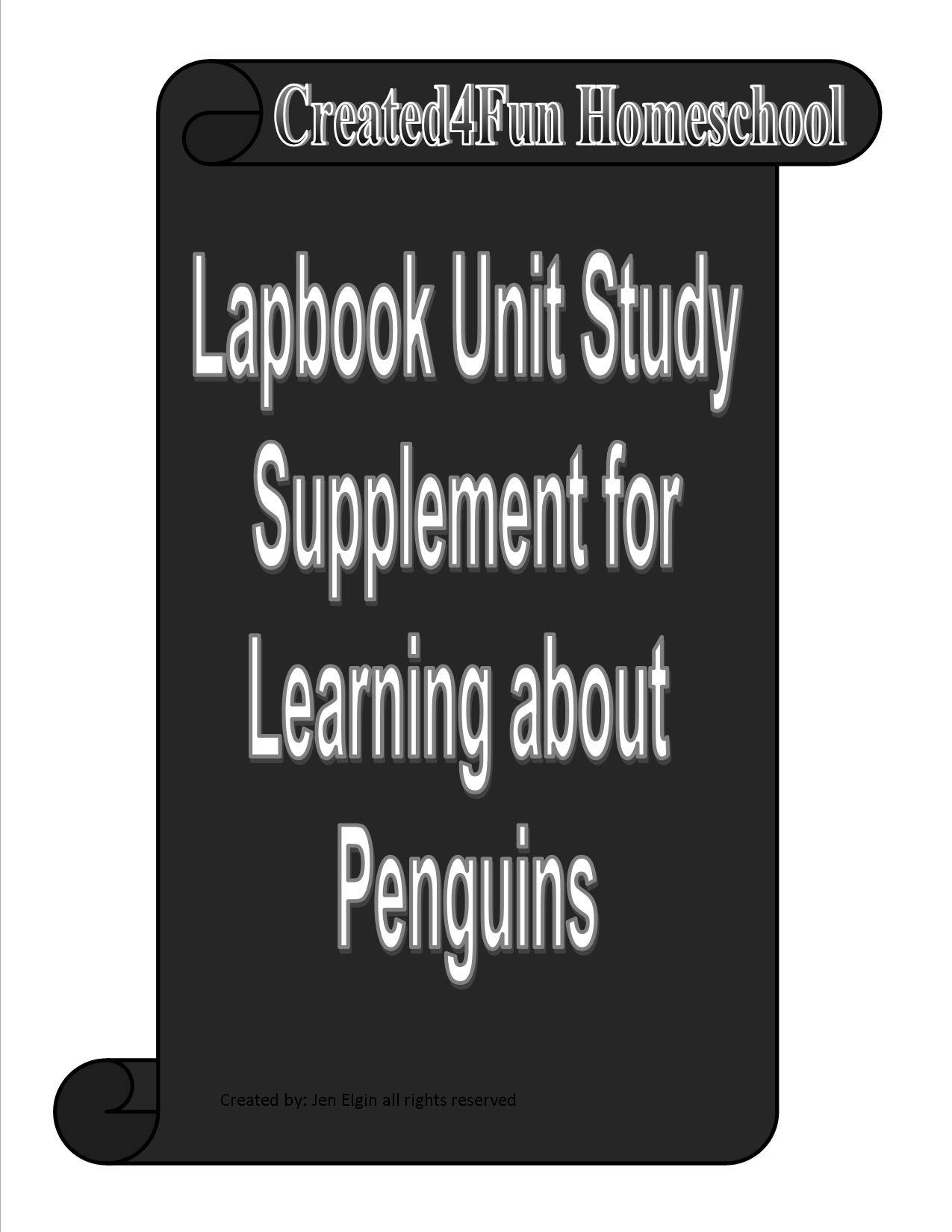 Penguin Lapbook Unit Study for learning all about Penguins   Etsy