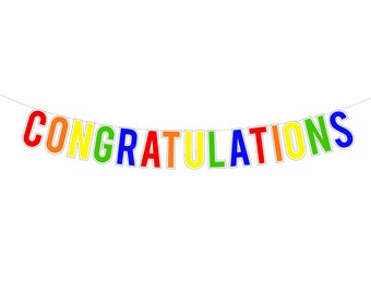 congratulation signs etsy