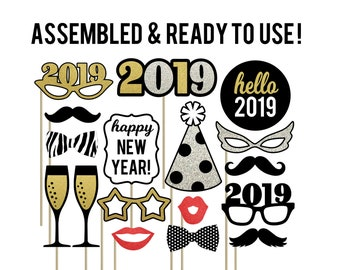 New Years Eve Photo Booth Props Etsy