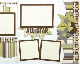 All Star Pre Made 2 Page 12x12 Scrapbook Layout