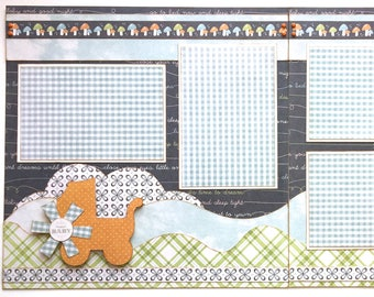 New Baby Premade 2 page 12x12 Scrapbook Layout