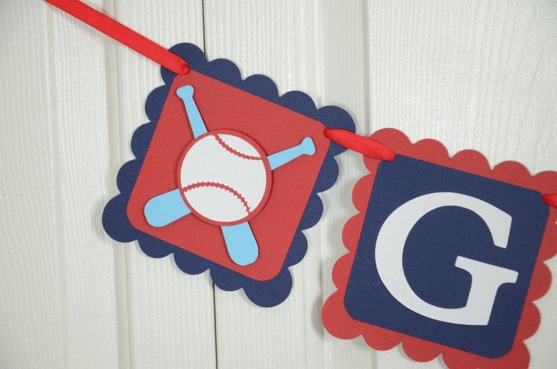 Baseball Gift Banner Baseball sign blue and Chevron Banner Gift Table Banner Baseball theme Red