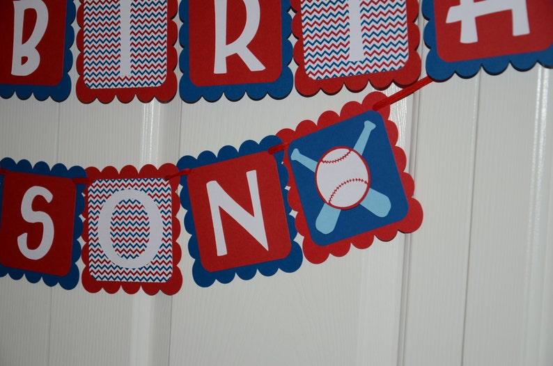 Birthday Party Baseball Theme 1st Birthday Banner Name Banner Baseball Banner Baseball Theme