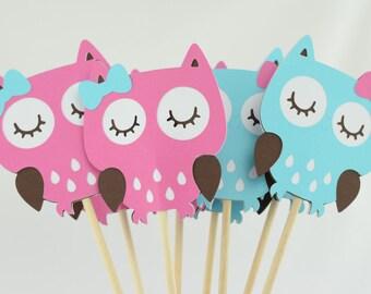 Owl Party Centerpieces, Owl Theme, Owl Centerpiece, Owl Baby Shower Theme, Set of 4