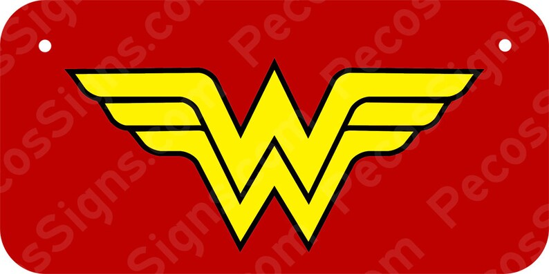 Wonder Woman BicycleMini Aluminum License Plate 6 w x 3 h Made in USA UV Protected