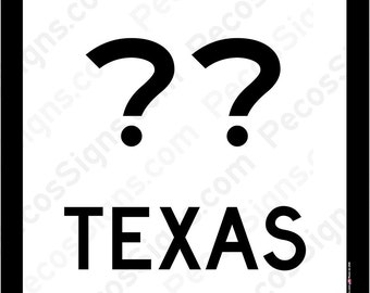 "Texas State Highway Sign with your choice of Hwy# - 12"" wide x 12"" high Aluminum Sign Made in USA"