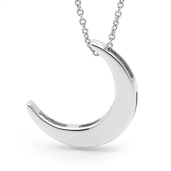 crescent moon Necklace Sterling Silver CRESCENT MOON ...