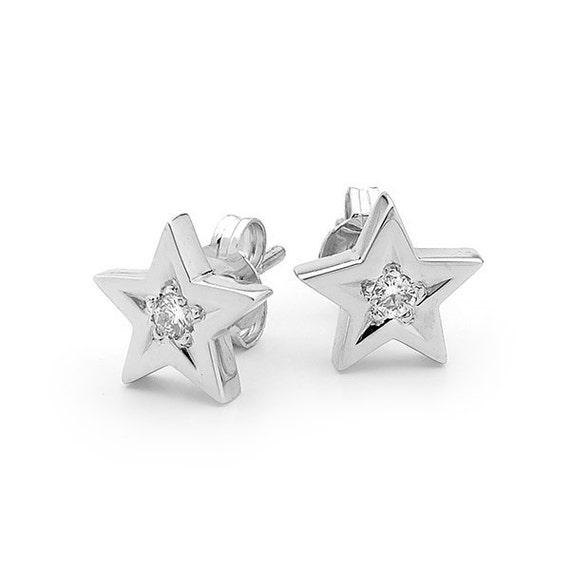 White gold Studs Star