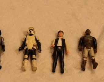 Lot of Nine Vintage Star Wars Action Figures