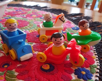 Vintage Fisher Price Little People Vehicle and Figure Lot