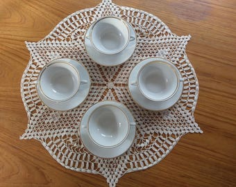 Set of 4 Bavarian made soup bowl and plates