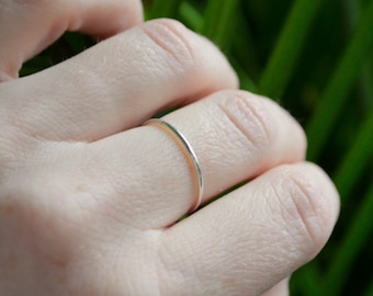 One Thin Silver Ring, Sterling Silver Ring, Stackable Silver Rings, Dainty Silver Ring, Silver Midi Ring