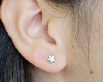 Star Stud Earrings, Star Earrings, Silver Star Earrings, Post Earrings, Small Star Post Earrings, Sterling Silver