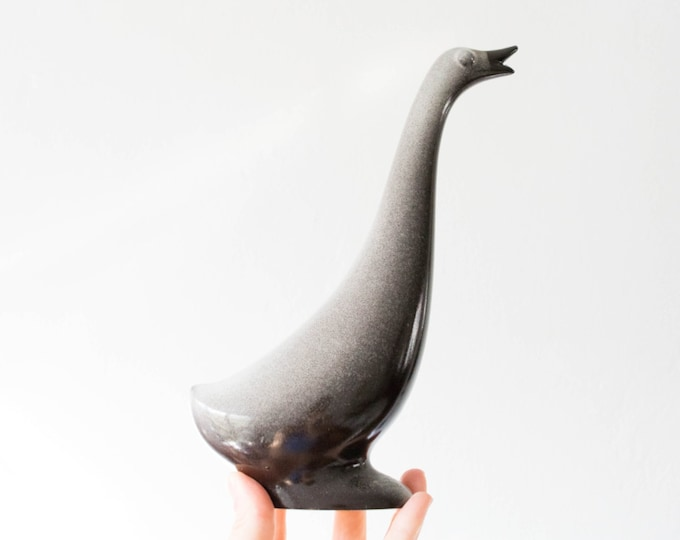 Vintage Howard Pierce Porcelain Goose Figurine // Mid Century 1950s California