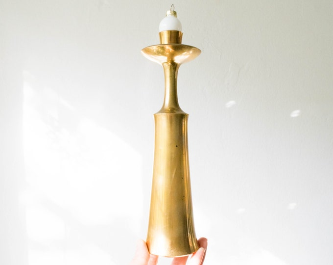 Danish Modern Brass Candle Holder // Dansk Denmark // Mid Century Modern Home Decor