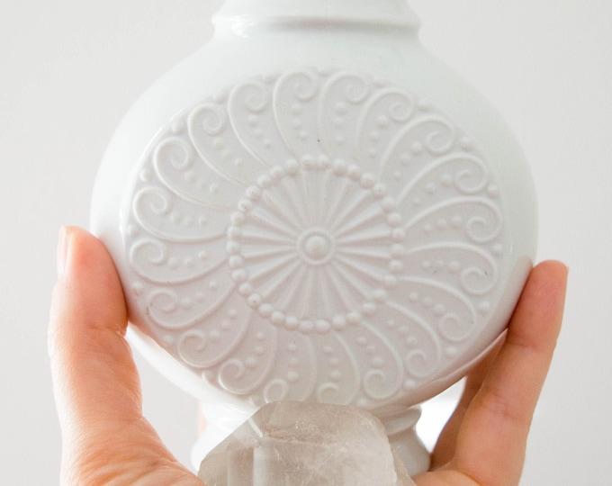 Royal KPM Mid Century Glazed and Matte White Porcelain Vase // Scandinavian Modern Home Decor