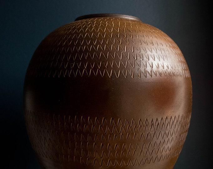Large Scale Mid Century Handmade Pottery Vase // Dumler & Breiden West Germany // Tribal Home Decor