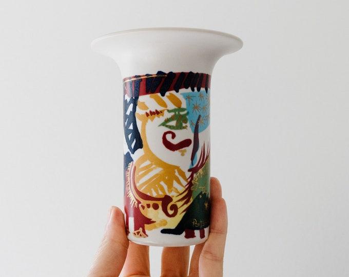 Vintage Gilbert Portanier for Rosenthal Porcelain Bud Vase // French Art // Paris