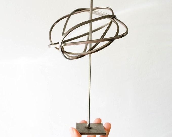Mid Century Modernist Aluminum Abstract Art Sculpture // Scandinavian Minimalist Home Decor