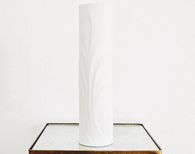 Large Scale West German Modernist Matte White Porcelain Vase // Thomas Germany // Modern Home Decor