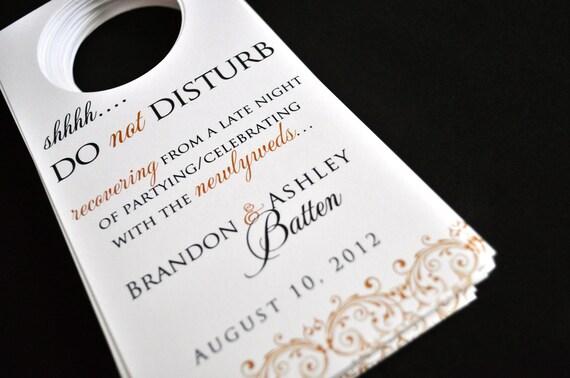 wedding door hangers do not disturb signs guest bags etsy