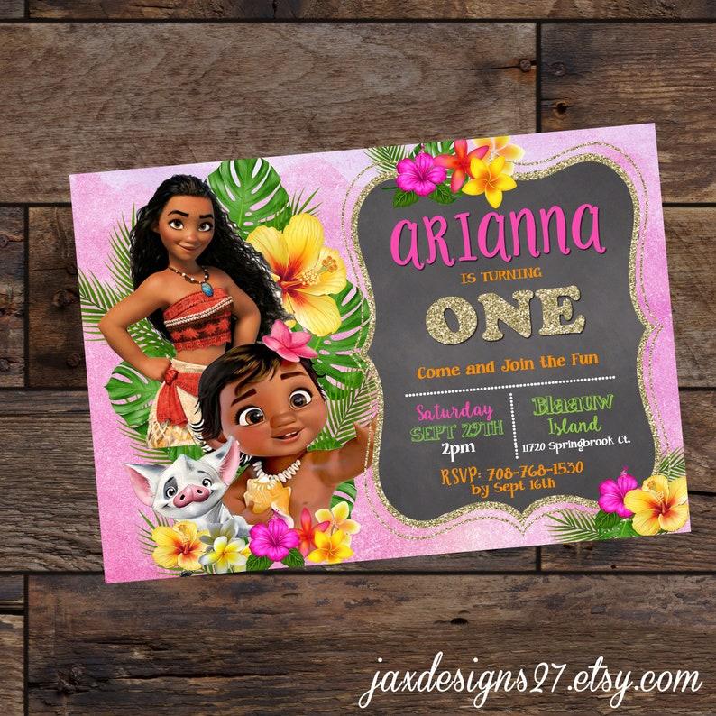 Hawaiian First Birthday Moana Girls