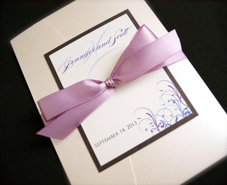Fold Wedding Invitations: Pocketfold Wedding Invitations Custom Pocket Fold Wedding