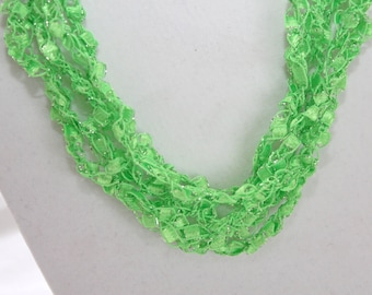 Limeade  - Crocheted Necklace