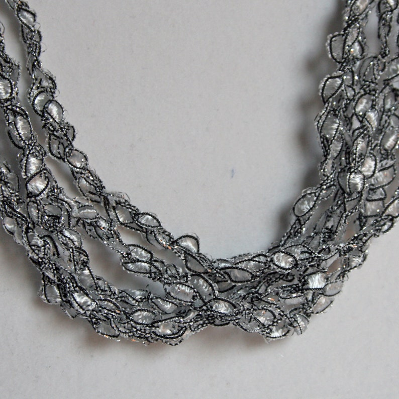 Silver Bells  Hand Crocheted Necklace Lightweight Crochet image 0