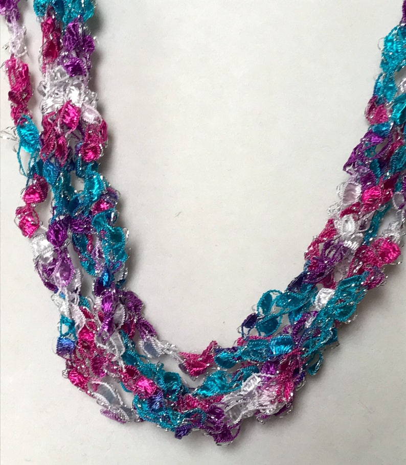 New Cupcake  Hand Crocheted Necklace Lightweight Crochet image 0
