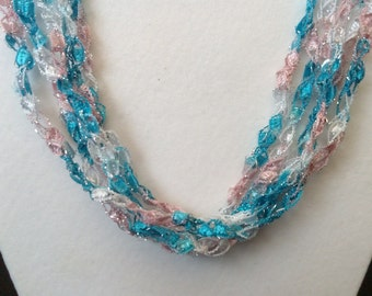 Twinkle - Hand Crocheted Necklace