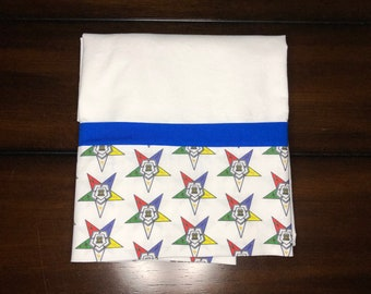 Order of the Eastern Star Pillowcase, Cotton Fabric, OES Gifts, Pillow Case, Handmade