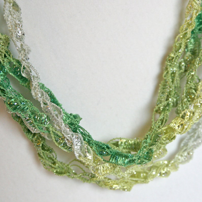 Lime Squeeze   Crocheted Necklace Lightweight Crochet image 0