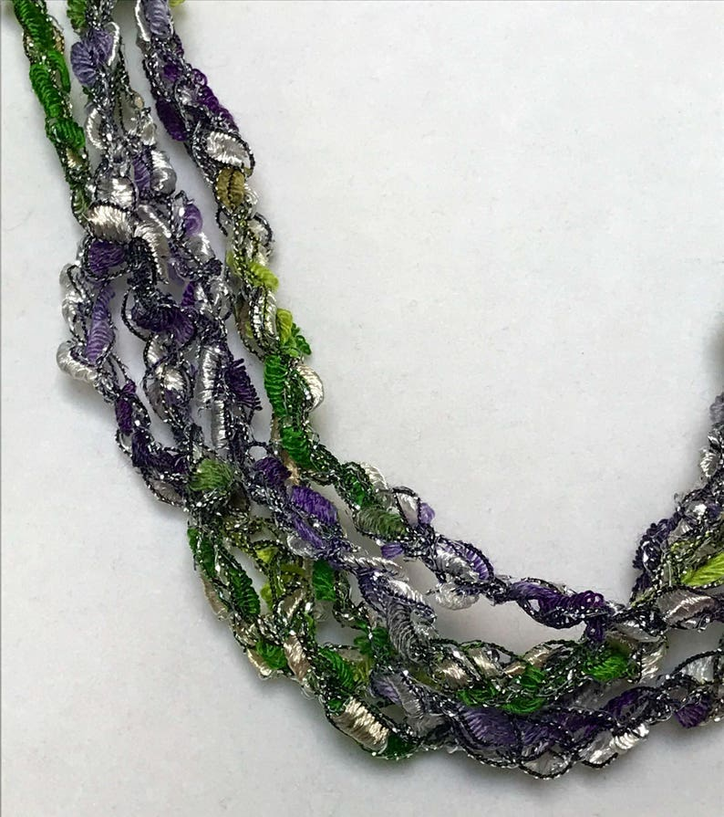 New Clover Field  Hand Crocheted Necklace Lightweight image 0