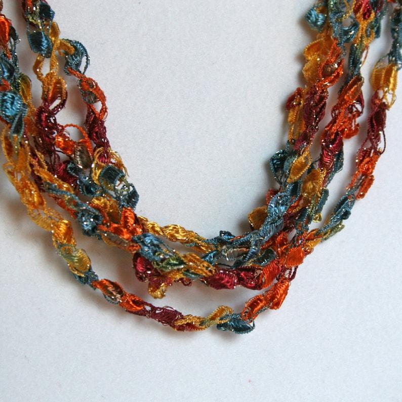 Sunset Sky   Hand Crocheted Necklace Lightweight Crochet image 0
