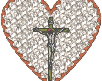 12 6X6 Lacy Hearts for our belief Machine Embroidery designs. zip file download