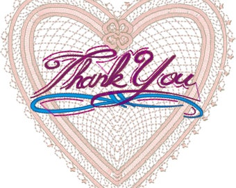 12 6x6 Lace hearts with Good things to say with Love.
