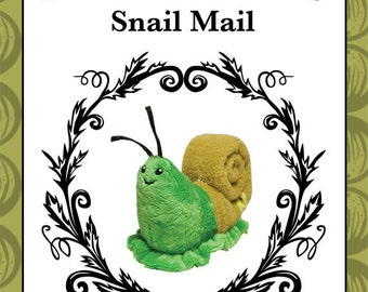 Snail Mail - plush toy snail pattern