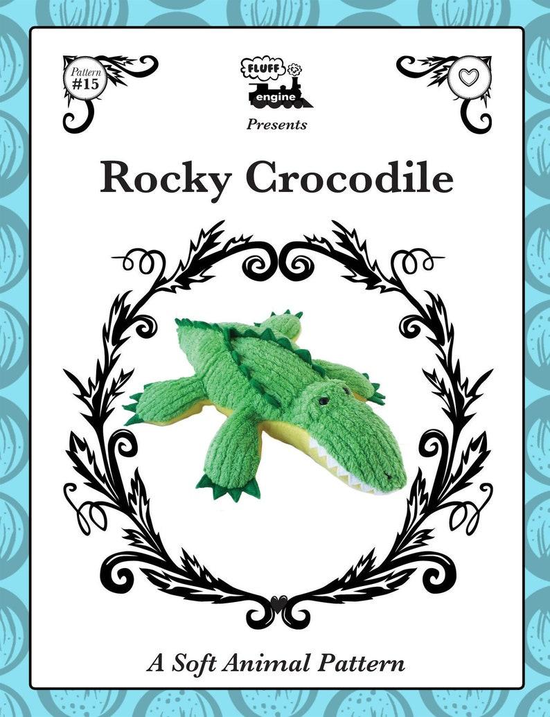 Plush Crocodile Toy Pattern image 0