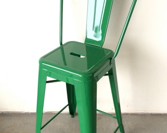Enjoyable Custom Tolix Style High Back Chair Bar Counter Stool In Etsy Gmtry Best Dining Table And Chair Ideas Images Gmtryco