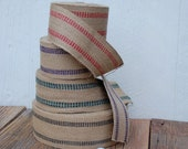 Jute Webbing in Red, Gree...