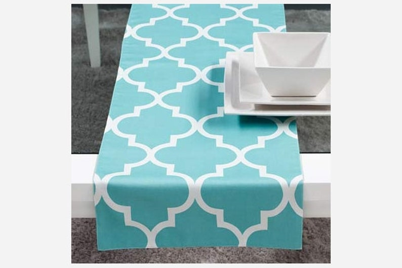 Custom Designed Patterned and Sewn Table Runner:  108 Inch image 0