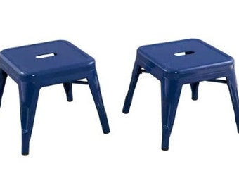 """Custom Painted Tolix Style Child Size 12"""" Stool in the color of your choice"""